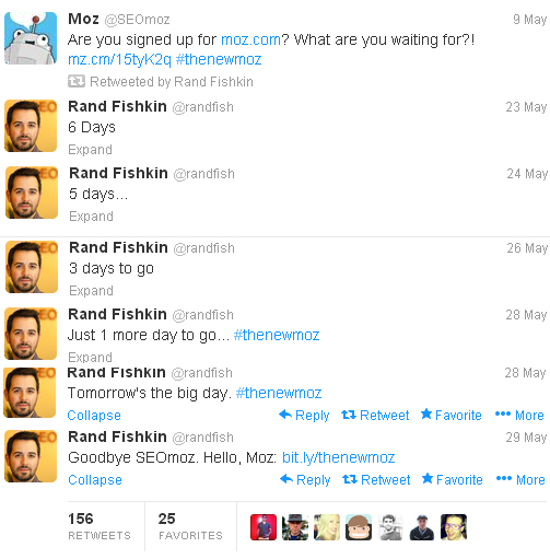 Rand Fishkin Tweets SEOMoz Rebranding