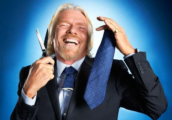 Richard Branson with Cut Tie