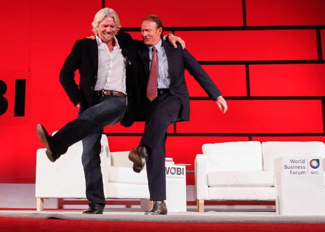 Richard Branson with Friend