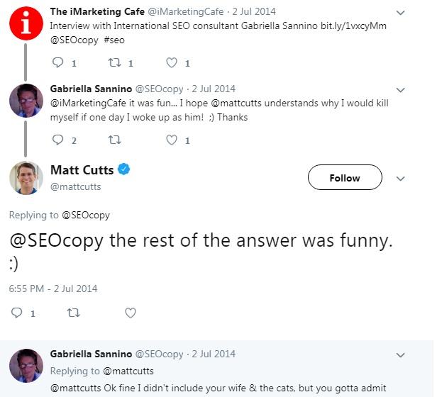 Matt Cutts Tweets