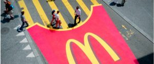 Mc Donalds Logo On Road