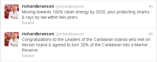 Richard Branson Tweets